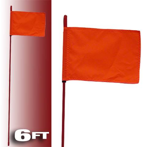 FireStik 6' Whips Safety Flags