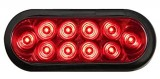OPTRONICS OVAL SEALED GROMMET MOUNTED SUPER LED TAIL LIGHT STL-72RK