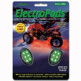 STREET-FX ELECTROPOD GREEN LED ATV BLACK OVAL PODS