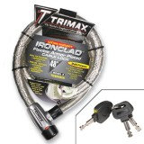 TRIMAX IRONCLAD FLEXIBLE ARMOR PLATED CABLE LOCK - 48""