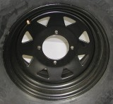 "12"" X 7"" BLACK STEEL ATV RIM"