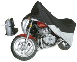 CLASSIC MOTORCYCLE COVER BLK/SLV - X-LARGE